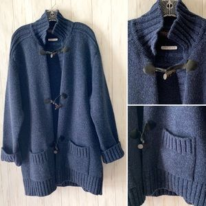 Fisherman Out Of Ireland Navy Toggle Cardigan XL